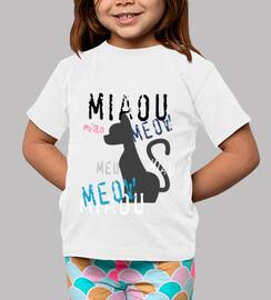 bébés shirt - design miaou