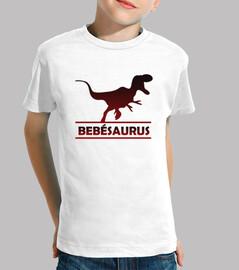 Bebesaurus camiset manga corta para baby niño dinosaurio
