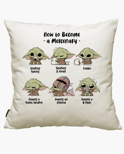 Become A Mercenary cushion cover