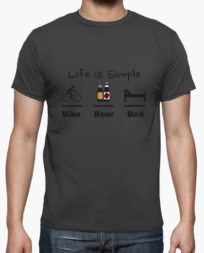 Bed beer bike t-shirt