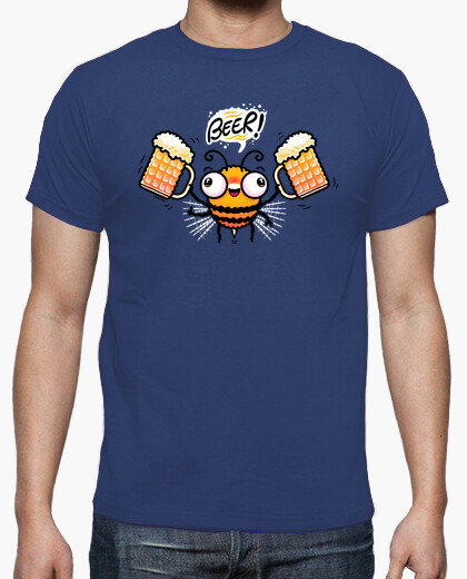 Bee Beer camiseta chico
