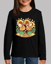 bee compassionate - kids shirt