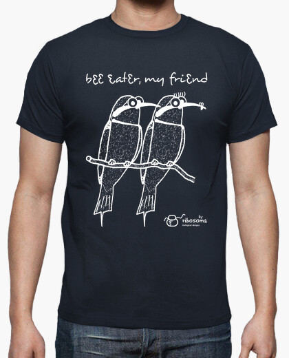 Camiseta Bee eater, my friend (fondos oscuros)