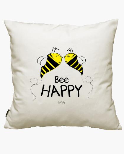 Bee happy cushion cover
