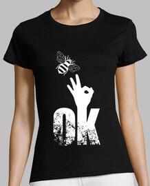 Bee OK Finger Up Sign Positive Attitude