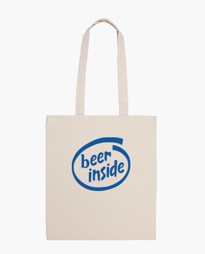Beer inside bag
