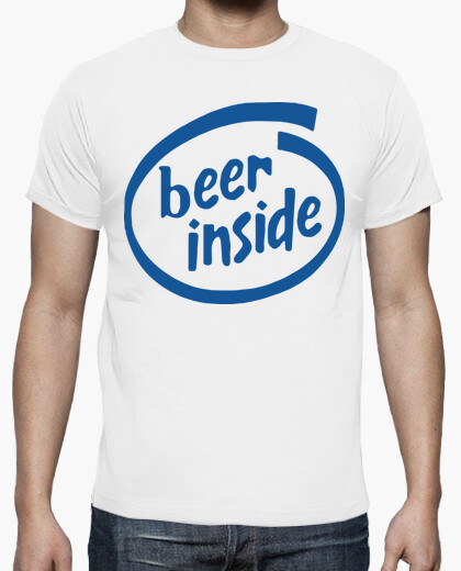 Beer inside - Camisetas Fiestas humor geek...