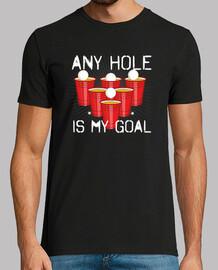 beer pong any hole è il mio obiettivo