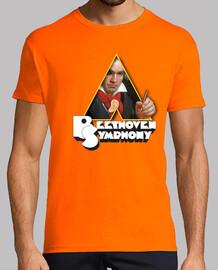 Beethoven, Hombre, manga corta, naranja, calidad extra