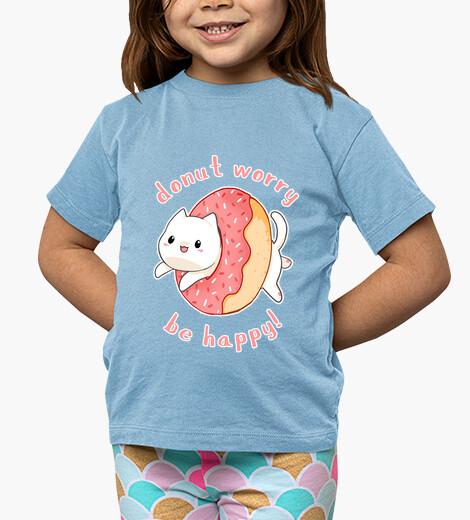 Vêtements enfant beignet chat inquiétude