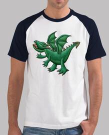 béisbol para hombre dragón verde
