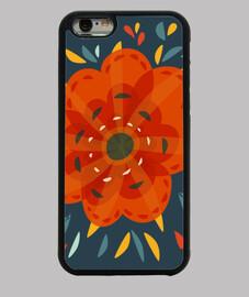 bel fiore arancione decorativo