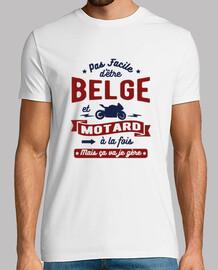 Belge et motard
