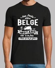 Belgian and biker