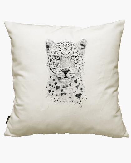 Housse de coussin belle léopard
