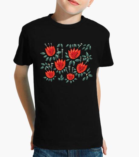 Vêtements enfant belles tulipes rouges abstraites