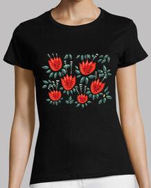 bellos tulipanes rojos abstractos
