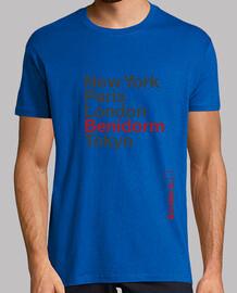 Benidorm, Hombre, manga corta, rosa, calidad extra