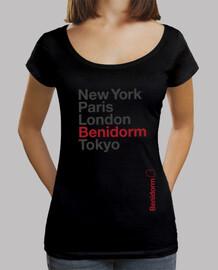 Benidorm, Mujer, cuello ancho & Loose Fit, negra