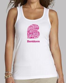 Benidorm, Mujer, tirantes, blanco
