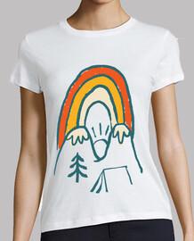 Berg und Regenbogen