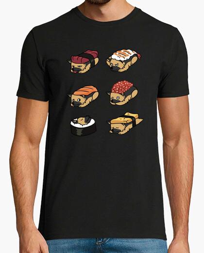 Tee-shirt berger allemand chien sushi nigiri