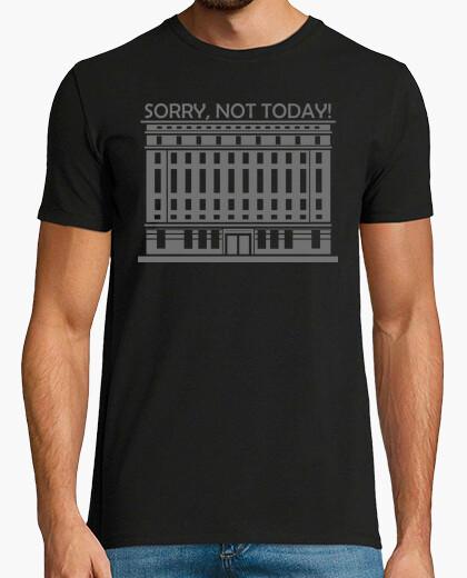 Tee-shirt berghain désolé not aujourd'hui gris