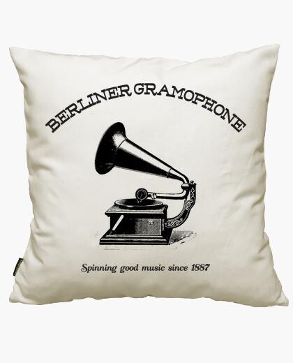 Berliner gramophone cushion cover