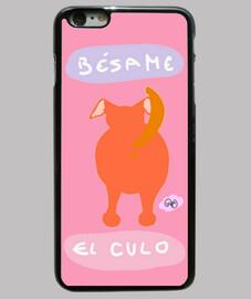 besame el culo (texto) Funda iPhone 6 Plus, negra