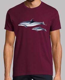 beschmutzte delphine atlántico camiseta hombre