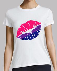 beso de la bandera bisexual