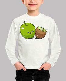 beso de manzana kiwi