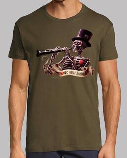 bewegen sie den skelett- männer t-shirt