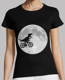 bicicleta de dinosaurio y la luna