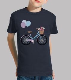 bicycle / bike / balloons / flowers