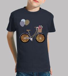 bicycle / bike / balloons / world map