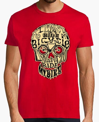 Bicycle race skull !!! t-shirt