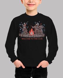 bienvenido al club - camisa para niños