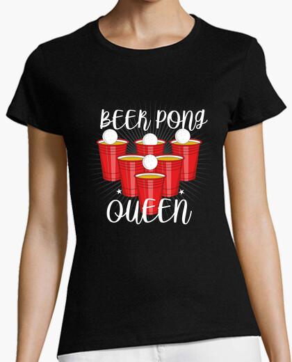 T-Shirt bier pong queen