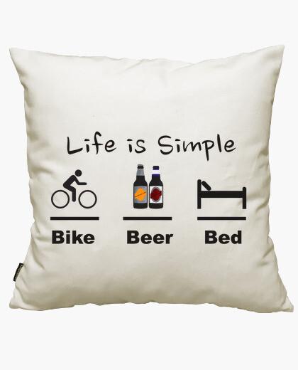 Housse de coussin bière lit de vélo