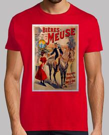Bières Meuse, vintage poster