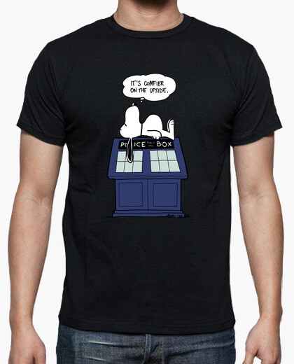 It's Comfier on the Upside Tardis Snoopy T-shirt