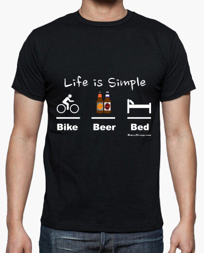 Bike beer bed white t-shirt