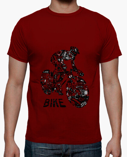 Bike collage t-shirt