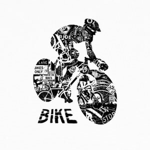 T-shirt bike collage
