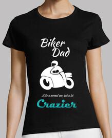 Biker Dad White Papá Motero en blanco