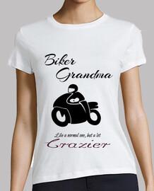Biker Grandma Black Abuela Motera en ne