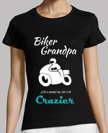 Biker Grandpa White Abuelo Motero en bl