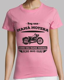biker maman, comme une mère normale mais cool (fond clair)