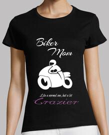 Biker Mom White Mamá Motera en blanco